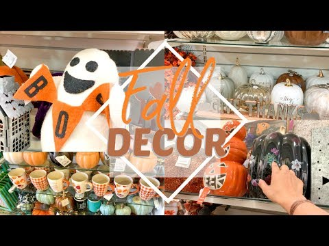 FALL DECOR SHOP WITH ME AT HOMEGOODS.... FALL DECOR 2019!