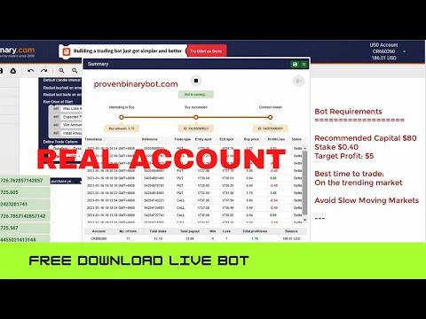 Live Profitable Bot Run - Market Monitor Bot | Confidential Profitable Epic Binary Bot