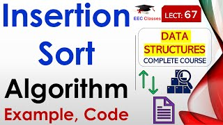 vuclip Insertion Sort Explanation with Working Example in Hindi and English