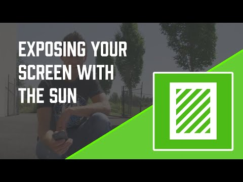 How to Screen Print: How to Expose a Screen in the Sun w/ Emulsion