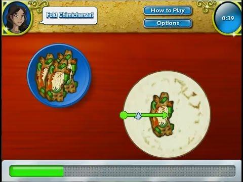 เกมส์ทำอาหารเม็กซิกัน โรตีไส้ชีสไก่ (ชิมิชางกา) - Chimichanga Mexican food Cooking Game チミチャンガ