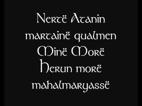 Neldë coranar [Lord of the Rings - Rings poem translated into Quenya]