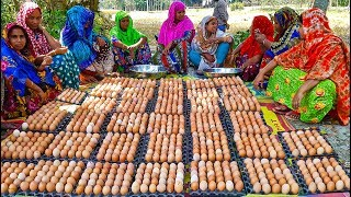 1,000 Eggs Cooking For Whole Village People  You Can't Guess What They Are Cooking Until Finish