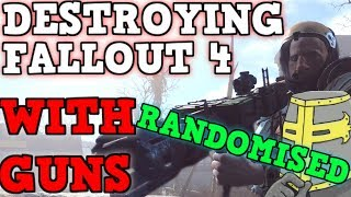 FALLOUT 4 But All Weapons are FULLY RANDOMIZED IS BROKEN - Can You Beat Fallout 4 With A Random Gun?