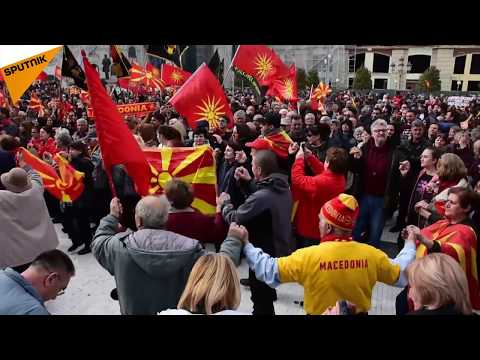 Macedonia: Thousands Rally Against Name Change Deal With Greece in Skopje