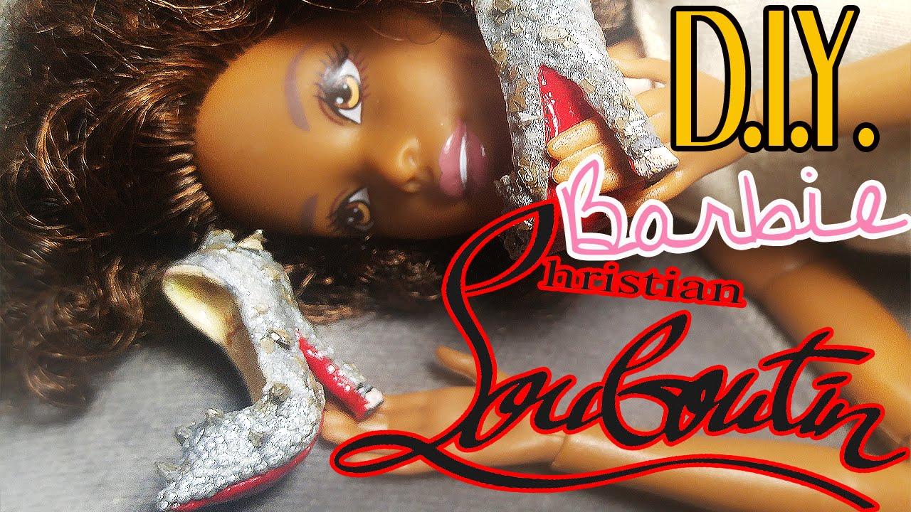 Polymer Clay Heels Glitter Louboutin Barbie Shoes Heels