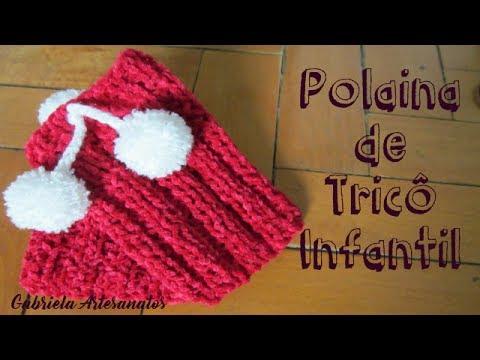 Passo a Passo  Polaina de Tricô Infantil - YouTube bc0da215555