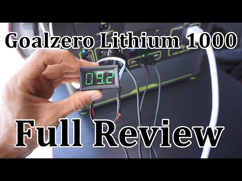 Goalzero Lithium 1000 Review: 1200 watt load test, DC input efficiency and more!