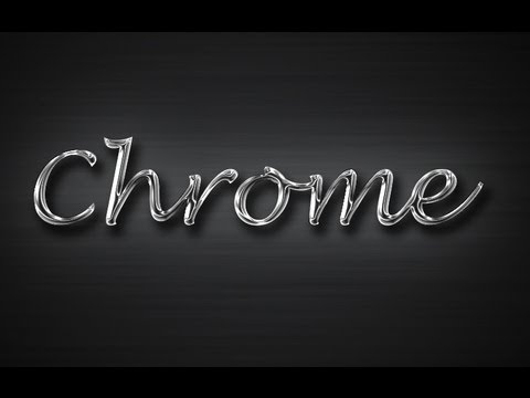 Chrome Text Effect - Photoshop Tutorial