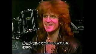 """Kingdom Come and Lenny Wolf on TV show """"Pure rock"""", Japan, 1988."""