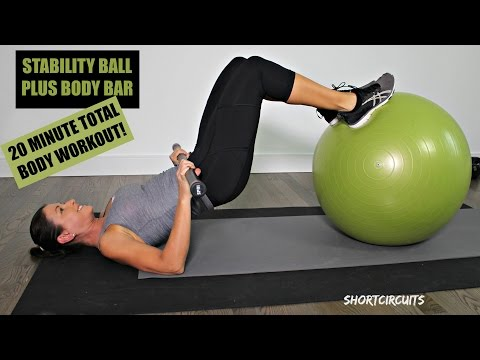 STABILITY BALL + BODY BAR = AWESOME TOTAL BODY WORKOUT