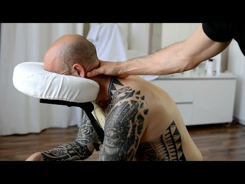 ASMR Chair Massage Back & Neck, No Talking - Cupping Therapy, Gua Sha Pt 1