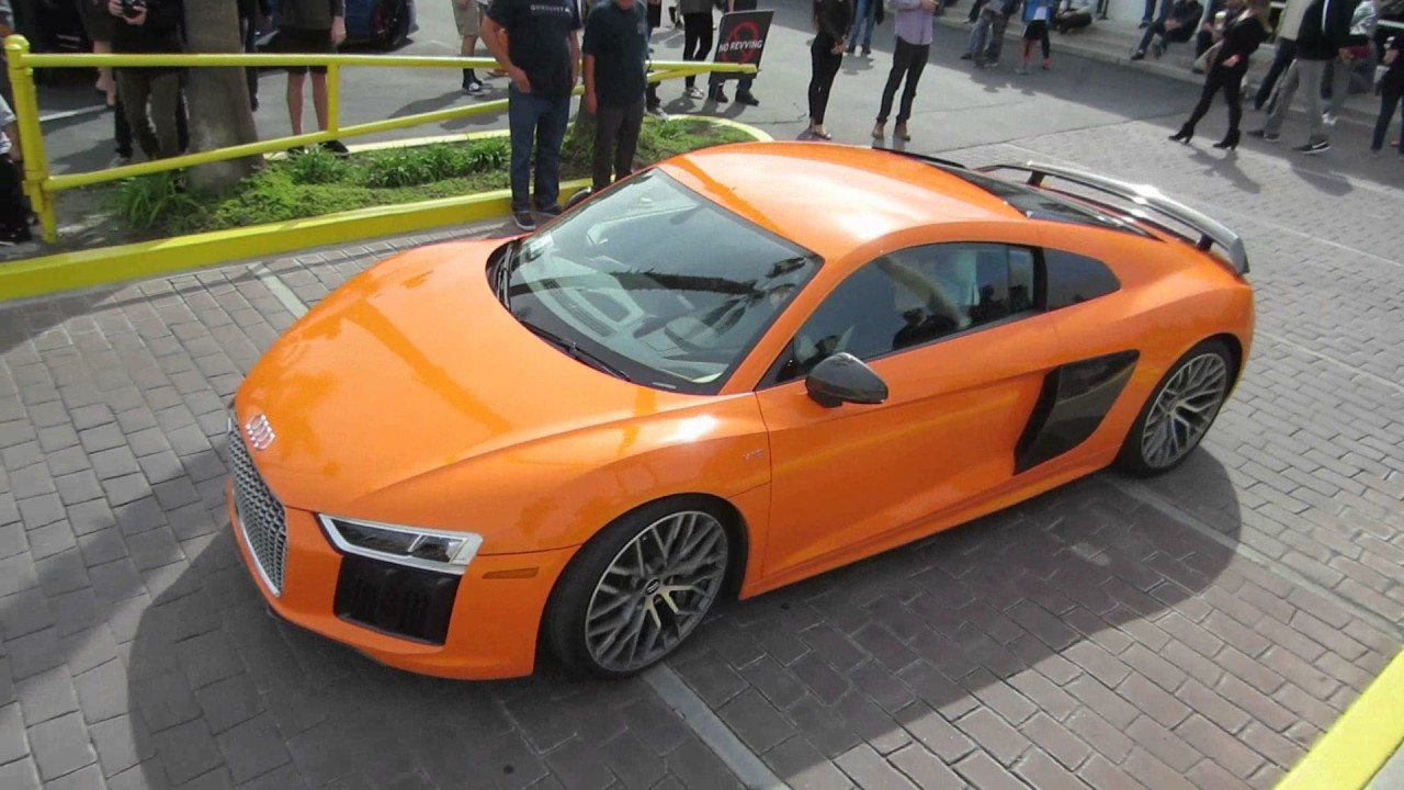 Orange Audi R8 V10 Plus Youtube