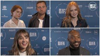 BIFA Nominations 2018 Interviews - Ellie Bamber, Jessie Buckley, Molly Wright