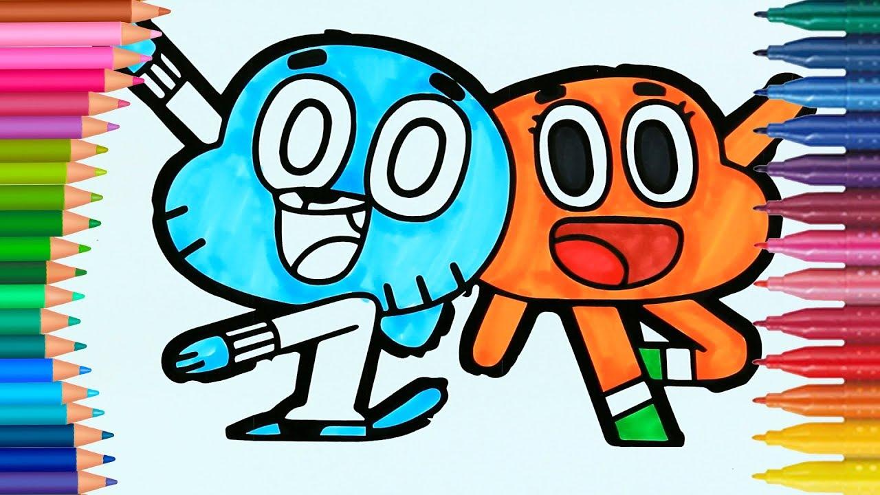 Gumball   Come disegnare e colorare   Disegni da colorare ...