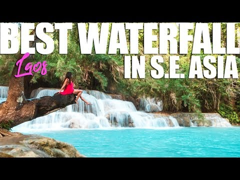 BEST WATERFALLS IN SE ASIA?? Kuang Si Waterfalls LAOS