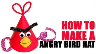 Angry Bird Hat    Learn Art and Craft   DIY Angry Bird Hat   Kids Art and Craft