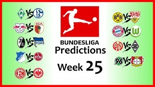 2018-19 BUNDESLIGA PREDICTIONS - WEEK 25