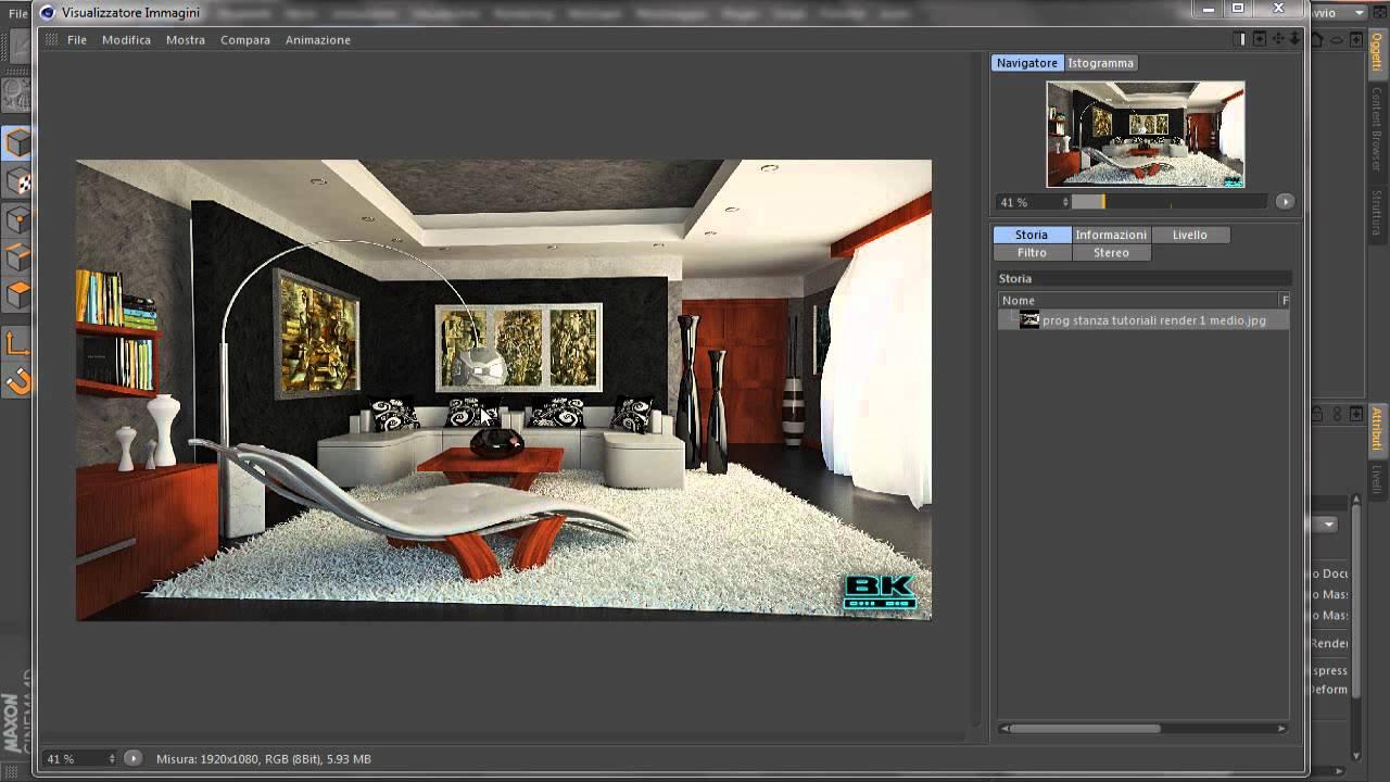 Creare interni con c4d il punto sulla situazione youtube for Programma per 3d interni