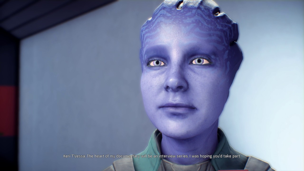 Mass Effect Andromeda Start Romance Flirt With Asari Keri Youtube