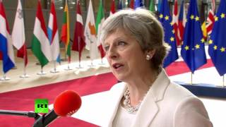 British Prime Minister Theresa May said that the UK has put forward...