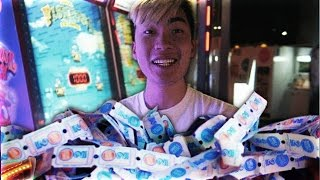 WON THE JACKPOT TWICE AT THE ARCADE
