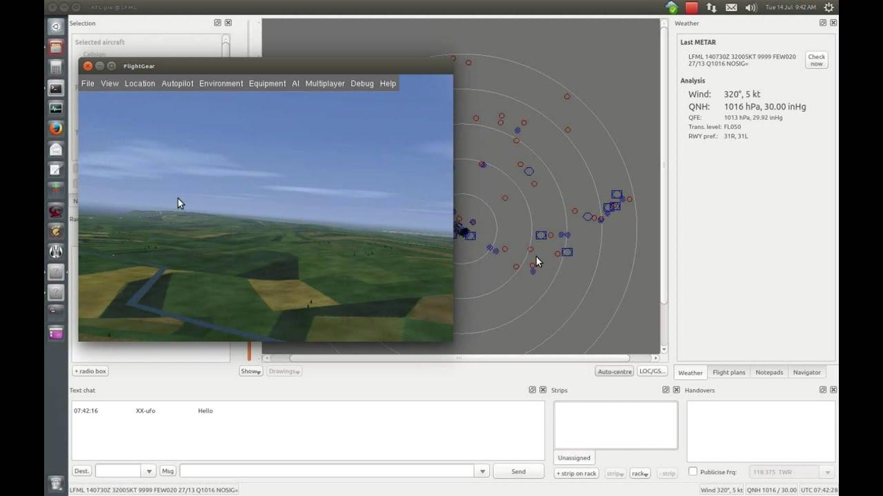 ATC-pie tutorial 1 - Transponders and radar visibility