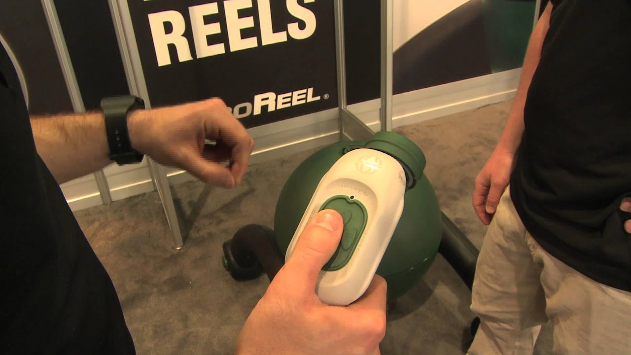 2013 Hardware Show: RoboReel Powered Water Hose Reel - YouTube