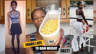4 BEST FOODS TO GAIN WEIGHT FAST WITH APETAMIN | Size 6 - Size 10 | STICK TO THICK