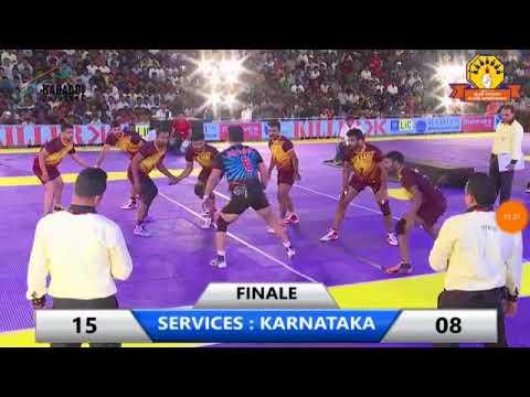 FINAL MATCH/THE FEDERATION CUP 2018/SERVICES VS KARNATAKA/FINALE DAY KABADDI 2018