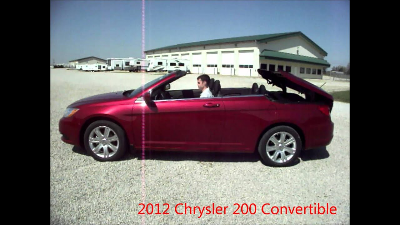 2012 chrysler 200 red convertible for sale by dealer near dayton ohio youtube. Black Bedroom Furniture Sets. Home Design Ideas