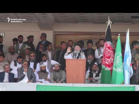 Hekmatyar Calls For Peace In Kabul Stadium Rally