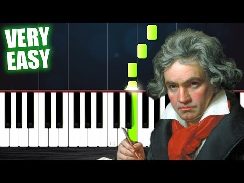 Beethoven - Ode To Joy - Piano Tutorial but it's TOO EASY (almost everybody can play it)