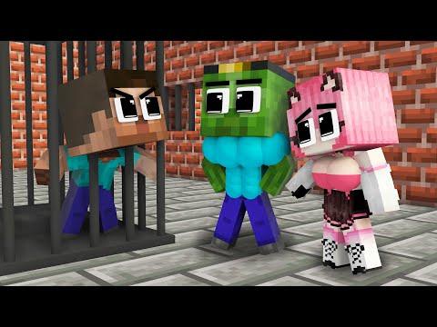 Monster School: Good Family Zombie and Bad Family Herobrine - Sad Story - Minecraft Animation