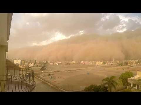 Giant sandstorm blankets Khartoum, Sudan.