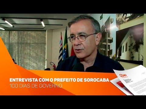 Entrevista com o Prefeito de Sorocaba 100 dias de governo - TV SOROCABA/SBT