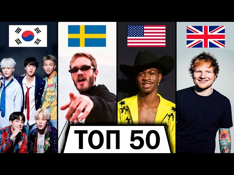 ТОП 50 МИРОВЫХ КЛИПОВ по ЛАЙКАМ 👍 | Лучшие песни | Зарубежные хиты | За всё время