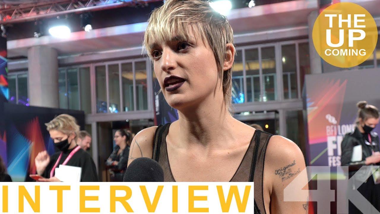 Agathe Rousselle on Titane, Julia Ducournau, Vincent Lindon at London Film Festival - interview