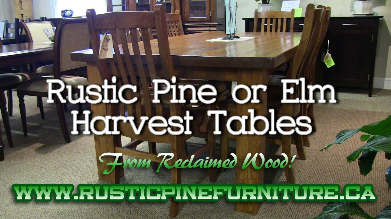 Rustic Elm Mennonite Harvest Tables From Reclaimed Wood, Mennonite  Furniture Queensville Ontario.   YouTube