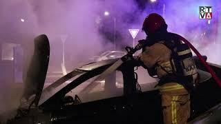 Gestolen auto uitgebrand op parkeerterrein Oude Dorp