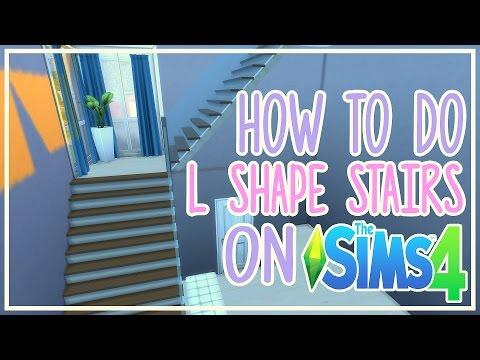 The Sims 4 - How to do L SHAPED Stairs