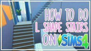 سيمز 4 - كيفية القيام L على شكل الدرج
