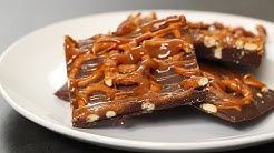 Salted Caramel Chocolate Pretzel Bark