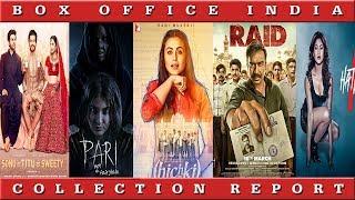 Box Office Collection Of Hichki, Raid, Hate Story 4, Sonu Ke Titu Ki Sweety, Pari   Box Office India