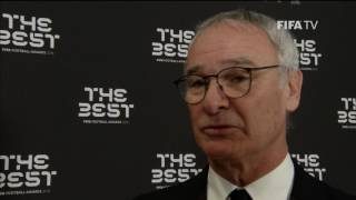 CLAUDIO RANIERI - Post Award Reaction - THE BEST FIFA FOOTBALL AWARDS 2016