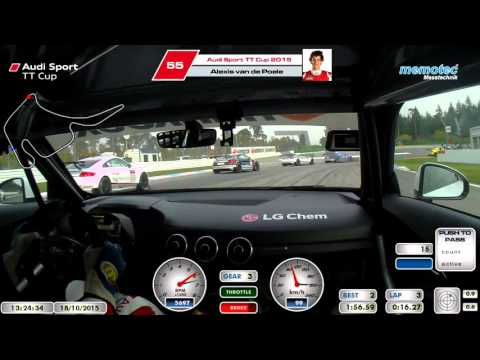 Audi Sport TT Cup 2015 - Hockenheim 2 race 2 - onboard Alexis van de Poele