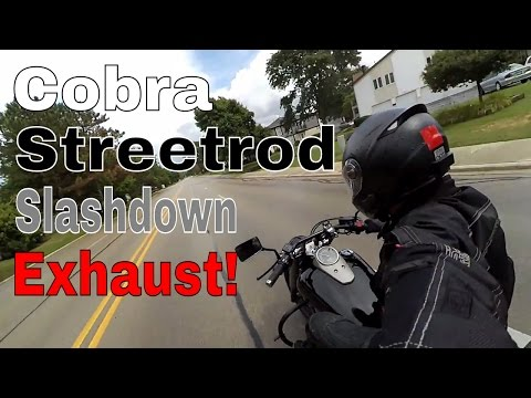 Honda Shadow Phantom - Cobra Streetrod Slashdown Exhaust - TroysTube