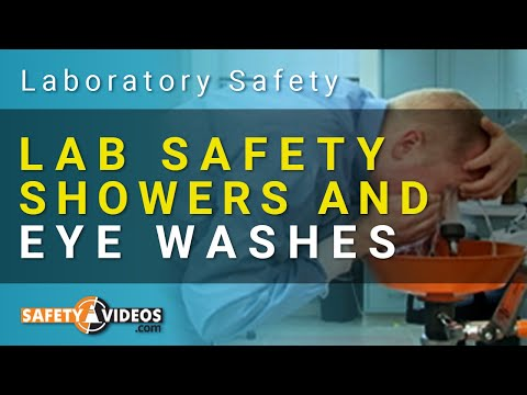 Safety Showers & Eye Wash Station Training for Lab Workers Video Preview
