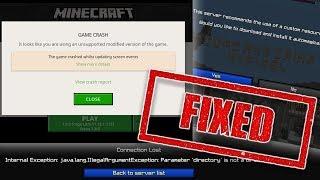 [FIX] Minecraft Crashes on Server Resource Pack Download