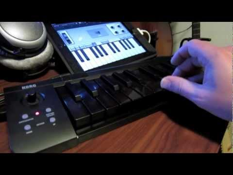 korg microkey 25 demo with ipad garageband all black keys youtube. Black Bedroom Furniture Sets. Home Design Ideas